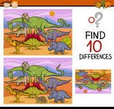 Conclusion de la bande dessinée de jeu de différences illustration de vecteur