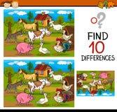 Conclusion de la bande dessinée de jeu de différences Photographie stock