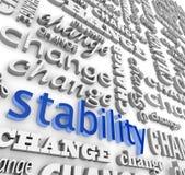 Conclusion de la stabilité au milieu de la modification Photos libres de droits