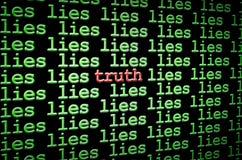 Conclusion de la vérité parmi les mensonges Photo libre de droits