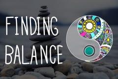 Conclusion du concept de bien-être de Yin-Yang d'équilibre Photographie stock libre de droits