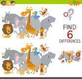 Conclusion du jeu de différences pour des enfants illustration stock