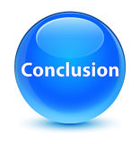 Conclusion glassy cyan blue round button Stock Photography