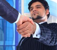 The conclusion Handshake. Royalty Free Stock Photo
