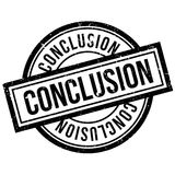 Conclusion rubber stamp Stock Image