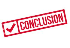 Conclusion rubber stamp Stock Photo