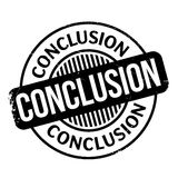 Conclusion rubber stamp Stock Photography