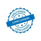 Conclusion stamp illustration. Conclusion blue stamp seal illustration design Stock Photos