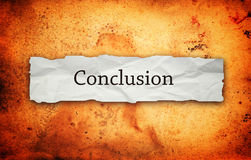 Free Conclusion Title On Old Paper Royalty Free Stock Image - 36193826