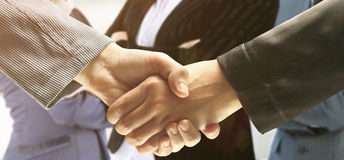 The conclusion of the transaction. Handshake. The conclusion of the transaction Royalty Free Stock Image
