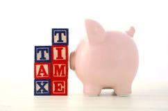 Conclusione del concetto di risparmio di anno finanziario immagini stock libere da diritti