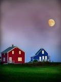 Conclusione del giorno a colori Fotografia Stock