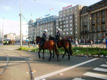 Conclusione del giorno del ` s di re, precedentemente celebrazione di giorno del ` s della regina, Amsterdam, Olanda, Paesi Bassi Immagine Stock Libera da Diritti