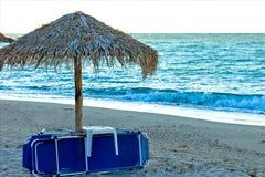 Conclusione del giorno sulla spiaggia Fotografia Stock