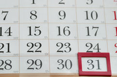 Conclusione del mese Fotografia Stock