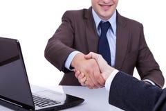 Conclusione dell'intervista di job Immagine Stock Libera da Diritti