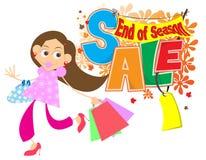Conclusione della vendita di stagione Fotografia Stock
