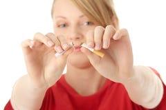 Conclusione di fumo Fotografia Stock