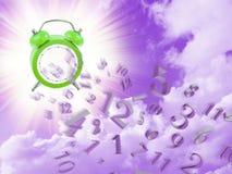 Conclusione di tempo e dei numeri di orologio Fotografia Stock