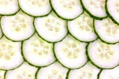 Concombre coupé en tranches Photo libre de droits