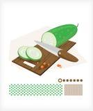 Concombre coupé en tranches Photos stock