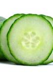 Concombre coupé en tranches Images stock