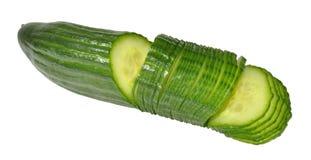 Concombre coupé en tranches Images libres de droits