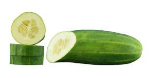 Concombre coupé en tranches Photographie stock