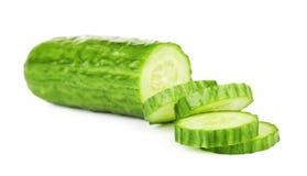 Concombre coupé en tranches frais Image libre de droits