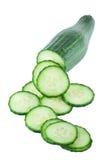 Concombre coupé en tranches Photographie stock libre de droits