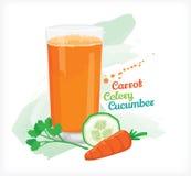 Concombre de céleri de carotte de Smoothie Images stock