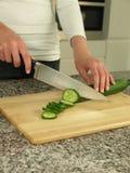 Concombre de découpage Image stock