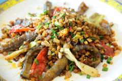 Concombre de mer chinois de cuisine Photographie stock