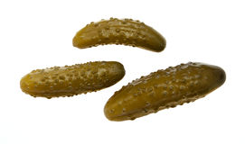 Concombre de trois marinees Photo stock