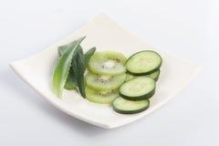 Concombre, kiwi et aloès Photo libre de droits