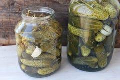 Concombres de marinage Photographie stock libre de droits
