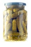 concombres en boîte Images stock
