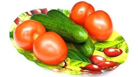 Concombres et tomates Photo stock