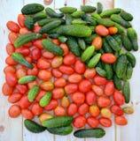 Concombres et tomates Photos libres de droits