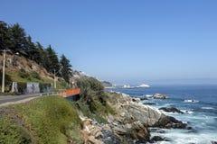 Concon: Chilean coastline city located on the Pacific coast in Valparaíso Province, Chile, Latin America stock photo