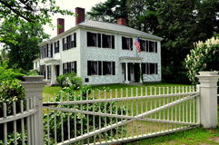 Concord, MA: Ralph Waldo Emerson Home. The historic home of famed American writer Ralph Waldo Emerson where he resided from 1835-1882 in Concord, Massachusetts royalty free stock images