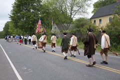 Concord Minutemen marching Royalty Free Stock Image