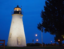 Concord Point Lighthouse. The Concord Point Lighthouse, in Havre De Grace Maryland, at twilight on a summer evening royalty free stock photos