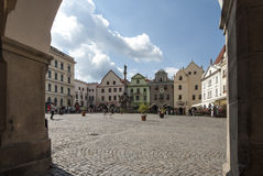 Concord square in cesky krumlov czech republic europe Stock Photo