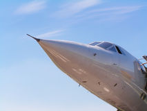 Concorde. The last concorde to fly into manchester airport Stock Image