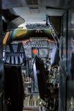 Concorde Cockpit arkivbild