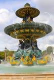 concorde de fountain la place Στοκ Εικόνα