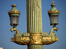 concorde de la lampa utsmyckat paris ställe arkivfoto