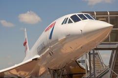 Concorde en el USS intrépido Fotografía de archivo