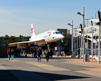 The Concorde Jet at the Intrepid Museum. Royalty Free Stock Photo